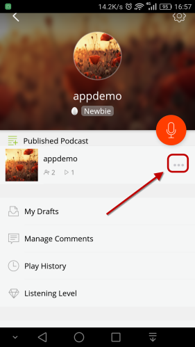 podcast menu