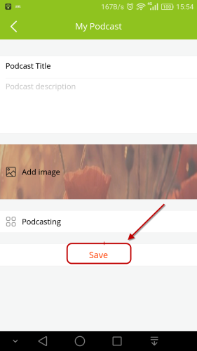 publish podcast android app
