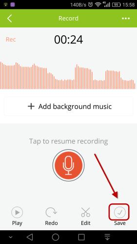 save recording