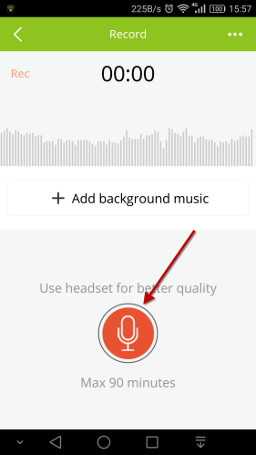 start recording android app