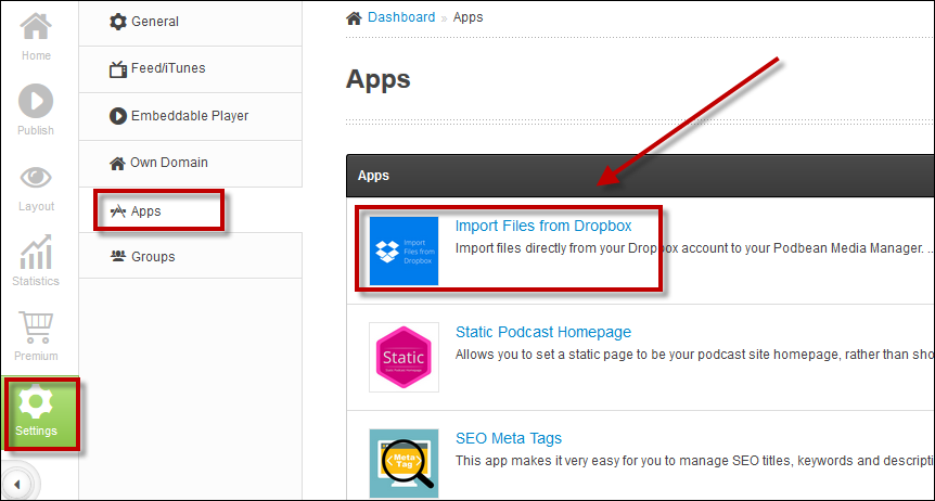 Save Time! Import Files Directly from Dropbox to Podbean | Podbean